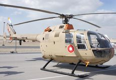 Static display of Bell 105, Bahrain Airshow 2012 Royalty Free Stock Image