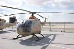 Static display of Bell 105, Bahrain Airshow 2012 Stock Photos
