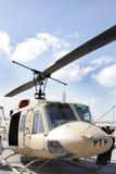 Static display of Bell 212 , Bahrain Airshow 20120. Sakhir Airbase, Bahrain - JANUARY 21: Static display of Bell 212 Helicopter in Bahrain International Airshow stock image