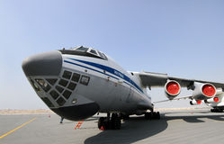 Static display of Ilyushin IL-76TD in Bahrain International Airshow Royalty Free Stock Images