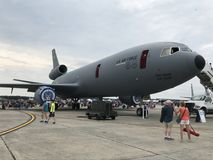 Static Displays at 2018 Great New England Airshow in Chicopee, Massachusetts. Static Displays at 2018 Great New England Airshow at Westover Air Reserve Base in stock photography