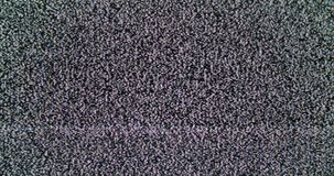 Static noise of detuned TV screen stock video footage