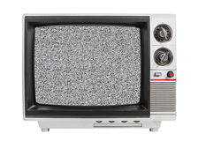 Static Screen Old TV Isolated Royalty Free Stock Photo