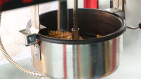 A static shot of a commercial popcorn machine. stock video footage