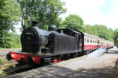 Static steam train Dales Countryside Museum Hawes Royalty Free Stock Image