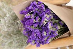 Statice flower bouquet, soft focus Stock Photography