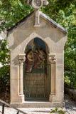 Statinon 1彼拉多谴责耶稣死 在十字架上钉死方式的驻地在罗卡马杜圣所的  法国 免版税库存图片