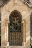 Statinon 12耶稣在十字架死 在十字架上钉死方式的驻地在罗卡马杜圣所的  法国 库存图片