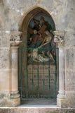 Statinon 9耶稣第三次下跌 在十字架上钉死方式的驻地在罗卡马杜圣所的  法国 免版税库存照片