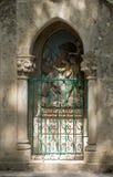 Statinon 7耶稣第二次下跌 在十字架上钉死方式的驻地在罗卡马杜圣所的  免版税库存照片