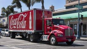 Stationär coca - colalastbil, San Francisco, Kalifornien, USA arkivbild