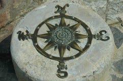 stationär kompass Arkivfoto