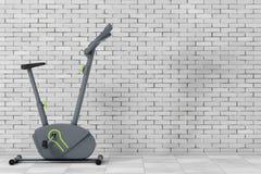 Stationär motionscykelidrottshallmaskin framförande 3d Royaltyfri Bild