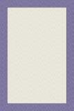 Stationäre Sahneauslegung mit purpurrotem Rand lizenzfreies stockfoto