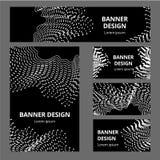 Stationärer Modellsatz des Vektors realistische Bürogegenstände mit abstrakter Entwurfsmarkenidentität Weiße Briefpapiersatzeinze stock abbildung