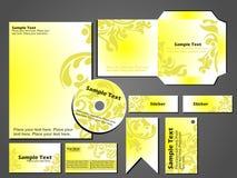 Stationärt format för vektor för fastställd design för affär Royaltyfri Fotografi