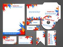 Stationärt format för vektor för fastställd design för affär Royaltyfria Bilder
