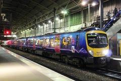 Station à unités multiples diesel de Leeds de la classe 185 Image libre de droits