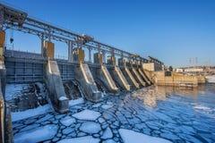 Station électrique hydraulique Image libre de droits