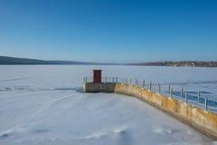 Station électrique hydraulique Images libres de droits
