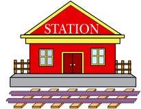 station royaltyfri illustrationer
