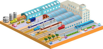 Station 3D Stockfotos