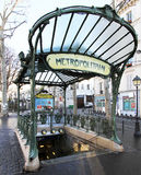 Station Abbesses - place des Abbesses  - Paris 18e Stock Photography