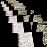 Station abstract - stone steps. Square crop. Royalty Free Stock Photo