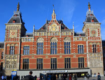 Station Amsterdam Centraal. AMSTERDAM NETHERLAND OCTOBER 03 2015 Station Amsterdam Centraal is the largest railway station of Amsterdam, Netherlands, and a major Stock Photos