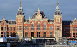 Station Amsterdam Centraal. AMSTERDAM NETHERLAND OCTOBER 03 2015 Station Amsterdam Centraal is the largest railway station of Amsterdam, Netherlands, and a major Royalty Free Stock Photography