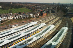 Station Arnhem centraal from above, Netherlands Royalty Free Stock Photography
