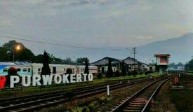 Station av purwokertoen Fotografering för Bildbyråer