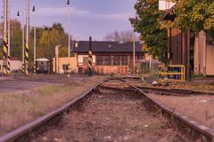 Station Bakov NAD Jizerou en Bohême centrale Photo stock