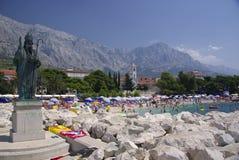 Station balnéaire Baska Voda, Croatie photo libre de droits