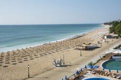 Station balnéaire d'or de sables, Bulgarie Image libre de droits