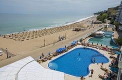 Station balnéaire d'or de sables, Bulgarie Photographie stock libre de droits
