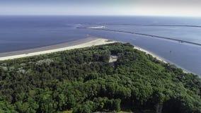 Station balnéaire de polonais du› cie de ÅšwinoujÅ sur la mer baltique Photos stock