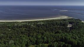 Station balnéaire de polonais du› cie de ÅšwinoujÅ sur la mer baltique Photo stock