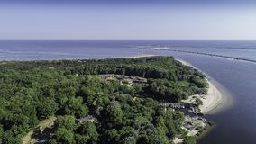 Station balnéaire de polonais du› cie de ÅšwinoujÅ sur la mer baltique Image libre de droits