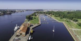 Station balnéaire de polonais du› cie de ÅšwinoujÅ sur la mer baltique Photographie stock libre de droits