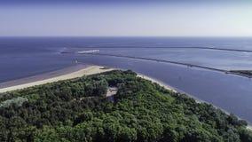 Station balnéaire de polonais du› cie de ÅšwinoujÅ sur la mer baltique Images libres de droits