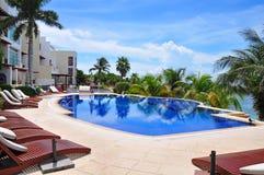 Station balnéaire des Caraïbes, Mexique Images libres de droits
