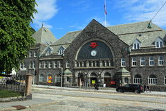 Station in Bergen Royalty-vrije Stock Fotografie
