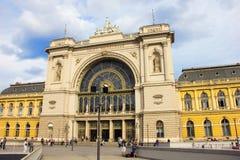 Station in Boedapest, hoofdstad van Hongarije stock foto's