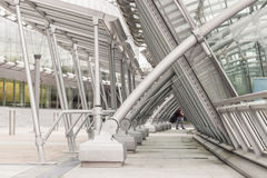 Station Brussel-Luxemburg in Brussel, België stock foto's