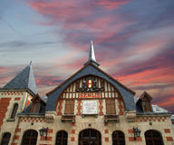Station building in the Gothic style.  france, senlis Royalty Free Stock Photo