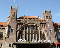 Station building in Haarlem Stock Photo