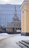 Station building in Petrozavodsk Stock Image