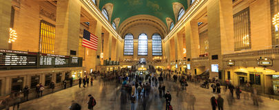 Station célèbre de Grand Central de point de repère de New York City (a plus de Th image libre de droits