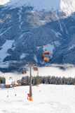 Station of cable car in Bad Gastein Stock Photography